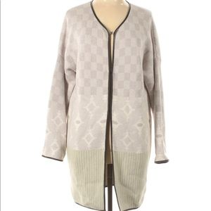 Margaret O'Leary Beige &Neon Print Cardigan
